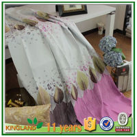 Leaves printed design classical kitchen curtain fabric
