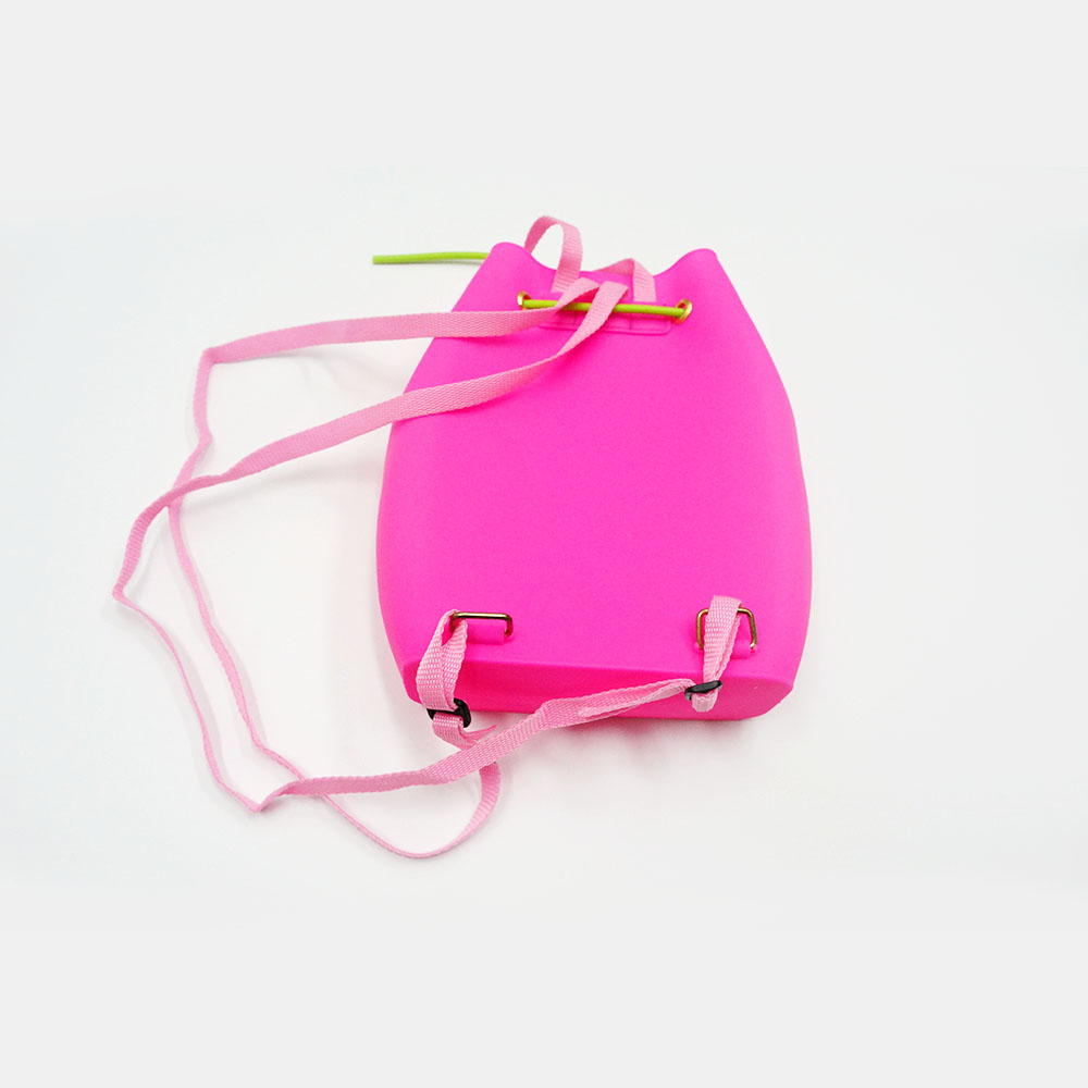 Silicone food bag women silicone portable backpack shoulder bag