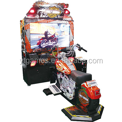55 LCD Harlly Motorcycle racing game machine video game machine simulator lottry machine for game zone