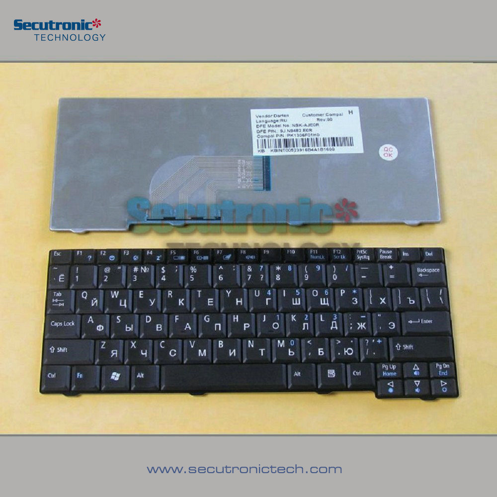 for Acer ASPIRE One 531H D150 D250 ZG5 Laptop Russian Keyboard