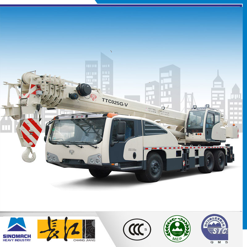 Changjiang white super power lifting capacity 25 ton mobile crane, mobile crane dimensions, mobile crane jobs