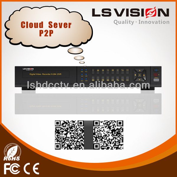 LS VISION supply HD-SDI 8 ch dvr h264 cms free software h.264 network dvr video surveillance system