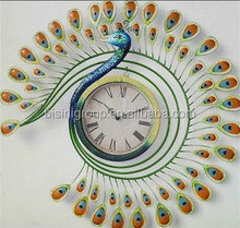 Peacock wall clock,decorative wall clock,metal wall clock (BF10-M730)