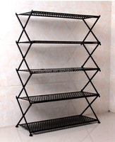 home storage 5 tiers folding Metal Shelf