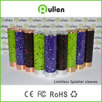 2015 new electronic cigarette Limitless Splatter sleeves hot sale on alibaba website