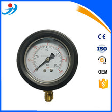 "2.5"" (63mm) 1/4BSP EN837-1 Special oil filled with rubber bumpers pressure gauge 0-20bar /0-300psi"