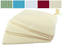 Microfiber Knitted Waffle Cleaning Solid color Kitchen tea towel fabric