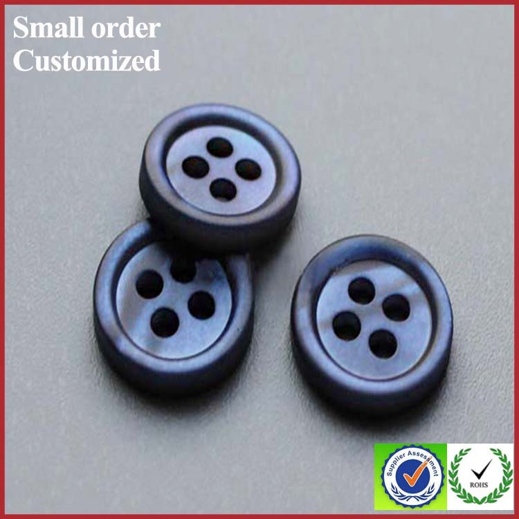 Shell button making machine blue natural pearl shank button for clothing