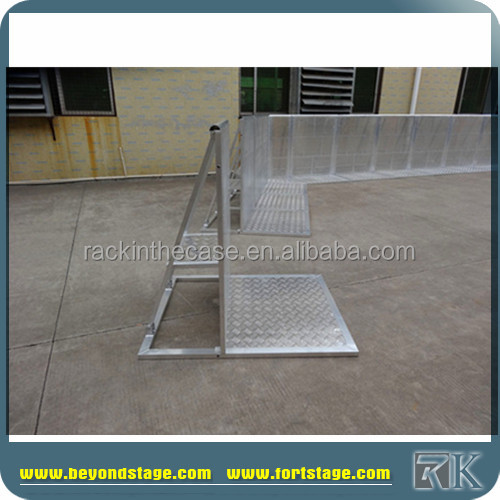RK Hotel Queue Up Stand barrier/Folding aluminum crowd barrier for sale