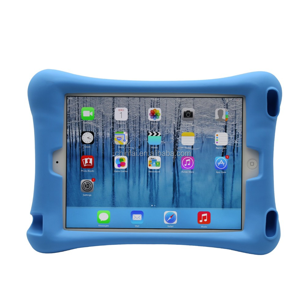 Various High Quality Shockproof Silicone Rubber Rug Case for ipad Mini Tablet Cover Ipad 7 inch Tablet Cover with Stand Function