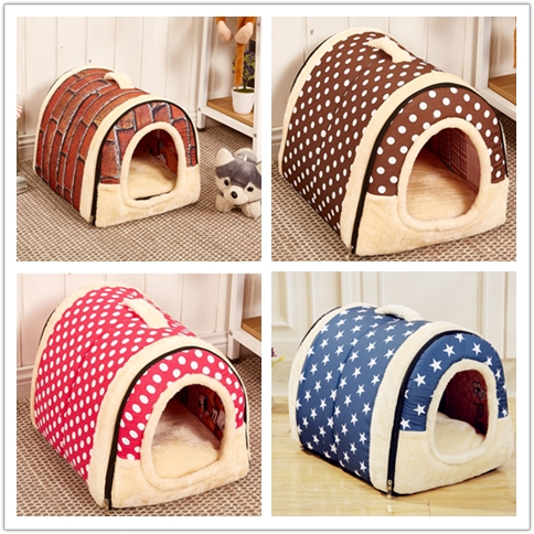 New Soft Indoor Dog House Bed Dog Nest Fashion Style Pet Beds & Accessories
