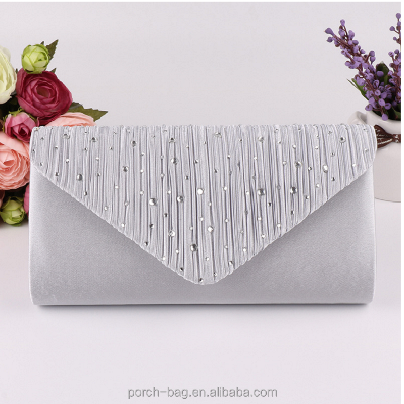 Europe and the United States high - end dinner package ladies diamond - studded evening bag banquet bag handbag