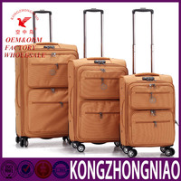Polyester Aluminium Trolley Travel Luggage Bag;Cheap Travel Case,Wheeled Luggage,Factory Price