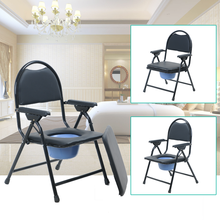 Lightweight folding backrest aluminum shower chair toilet chair