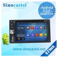 Sinocastel 6.2 inch double din android car gps navigation with mirror link for universal cars