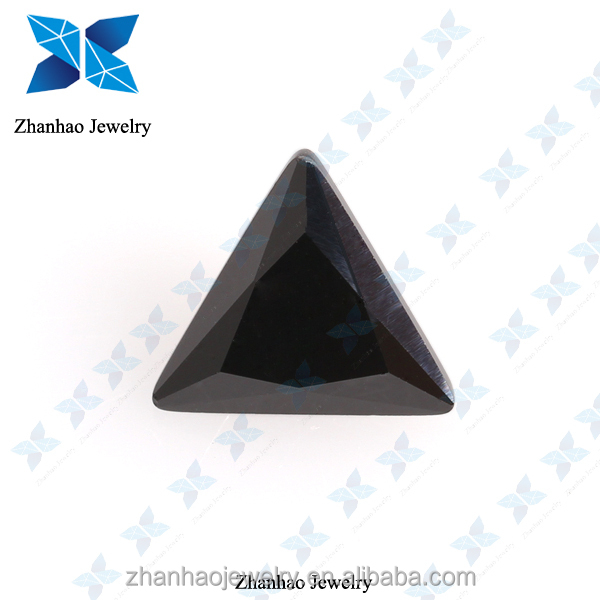 synthetic cubic zirconia black triangle colored stone /mix natural landscaping colored crushed stone