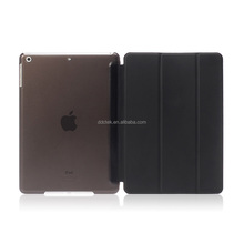 New arrival PC base PU leather cover for ipad air case with sleep/wake function Black