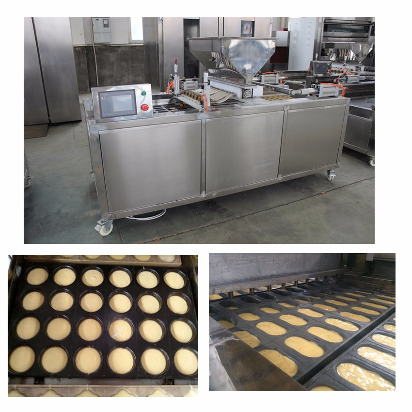 Single Head Automatic Cake Machine , Cup Cake Making Machine With Beautiful Modeling