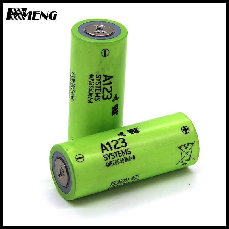 Original ANR26650 3.2V 2500MAH lifepo4 A123 cylindrical rechargeable battery a123 26650