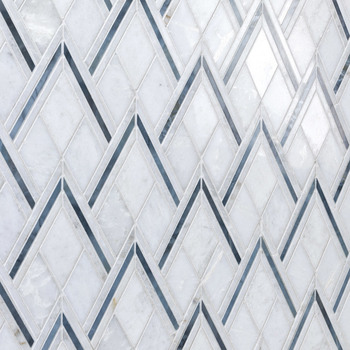 Decorstone24 Thassos White Marble Rhombus Tile Backsplash Mosaic With Low Price