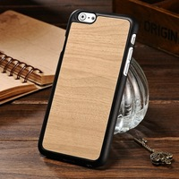 2016 Mobile accessories of hard wood grain shockproof for Iphone 6 4.7 inch TPU case