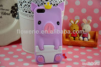 FL1506 2013 NEW Hot Sell Mobile Phone 3D silicon case For iphone 5 5G silicon Case