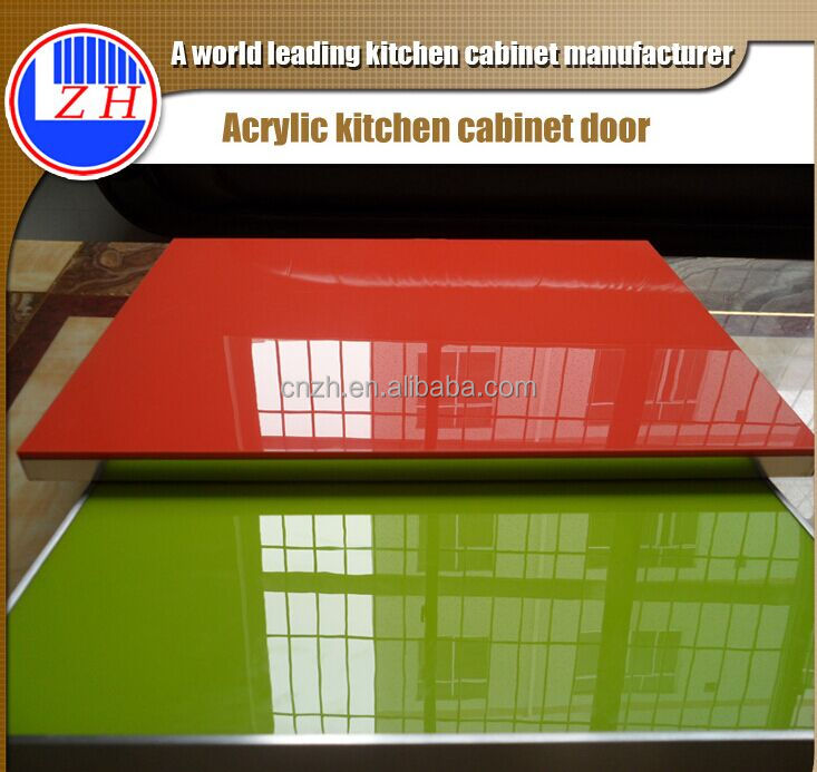 High glossy mdf acrylic used kitchen cabinet door cheap with ABS edge banding