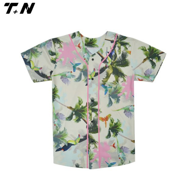 dye sublimation dry fit baseball jersey custom