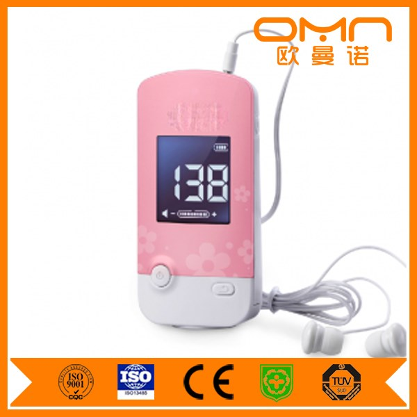 Portable wireless Fetal doppler F60 with large LCD display and built-in probe