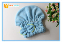 Soft Hand Feeling Magic Water Absorbent Shower Cap Coral Fleece Fabric Hair Towel