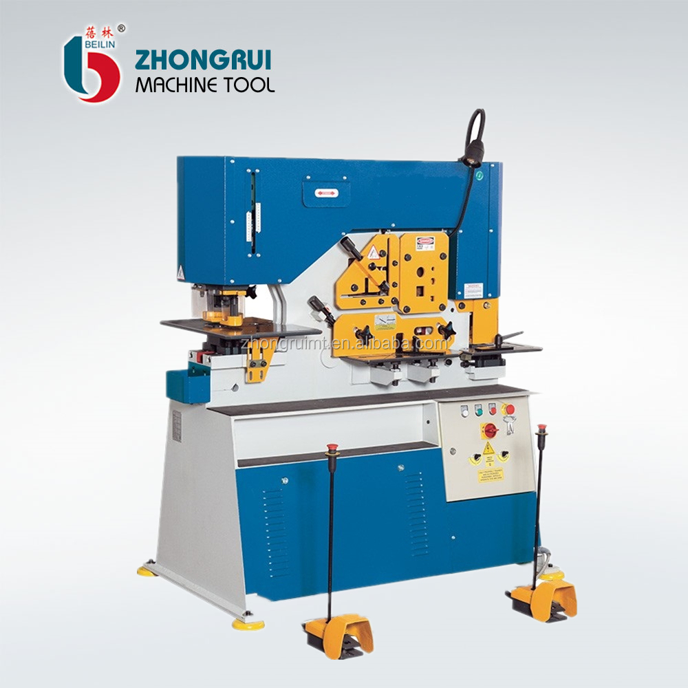hydraulic ironworker , angle iron cutter , angle cut 45 degree ironworker machine