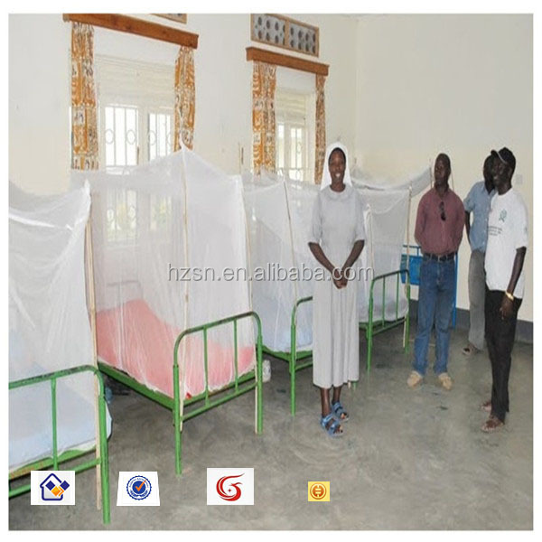 WHOPES approval hospital bed double netting anti malaria long lasting insecticidal mosquito net for hospital