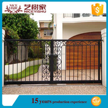 2016 alibaba single simple wholesale exteriorhouse main iron square tube gate d aluminum gate for garden farm school home school
