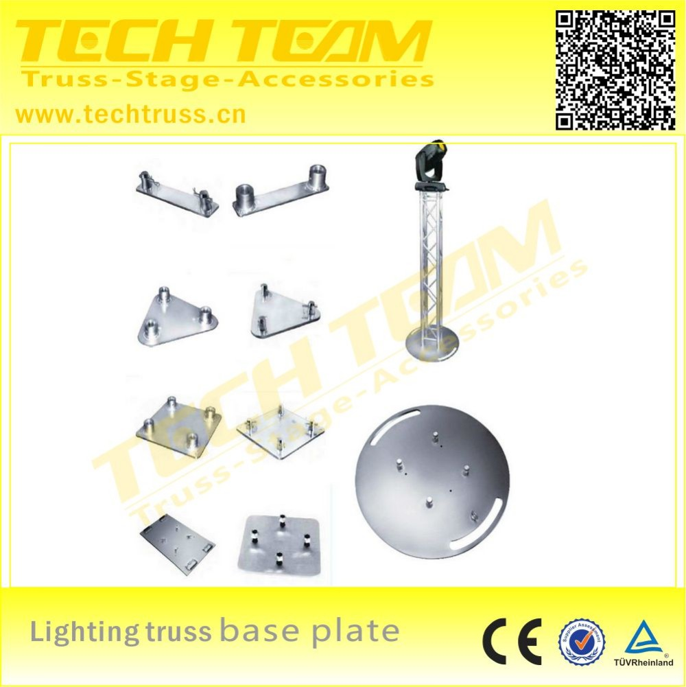 Steel base plate for moving head light truss stand