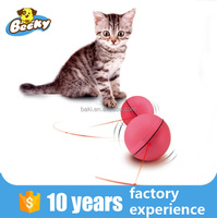 LED Action Ball Electronical Cat Toy With 3 Button Batteries