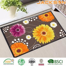 Woven knitted polyester outdoor entrance floor home depot rubber mat