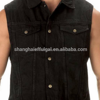 Black Denim Vest Adults Wear Resisting