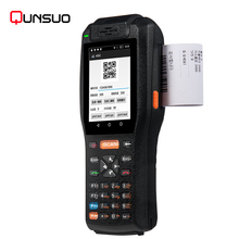 Rugged IP65 Industrial Android Handheld PDA Laser Barcodes Scanner with Printer