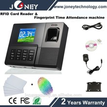 TCP IP Multi-Language RFID Card Employee Time And Attendance Software Systems