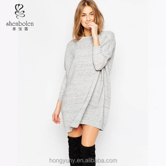 M40929 Wholesale popular pure color crew neck school style womens knitted sweaters wholesale