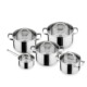 Multi-purpose stainless steel large size cooking pots and pans set
