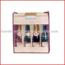 4 wine bottle bag