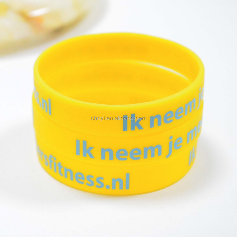 recycled silicone wristband whosale silk print/debossed/embosoed/colour filled rubber bracelet/wrist bands silicone rubber