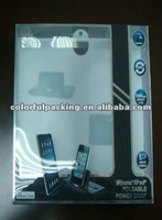 Clear plastic iphone packaging boxes,custom phone case boxes ,cell phone case packaging