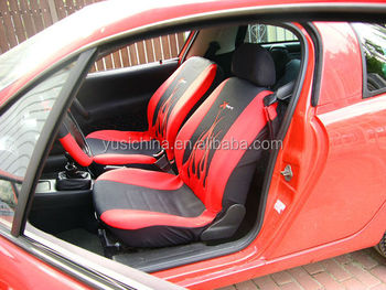 High Quality Embroidery flame Multicolor washable Universal Fit car seat cover