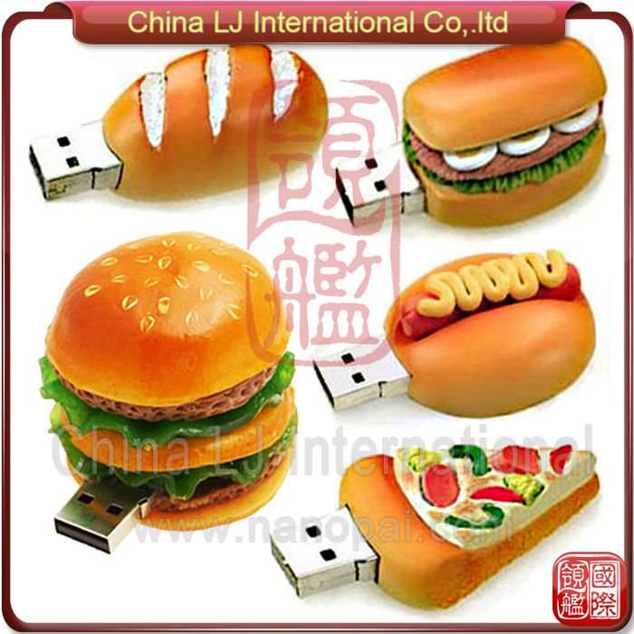 customize foods shape Silicon USB Flash Drive, custom foods usb drive promotional gift