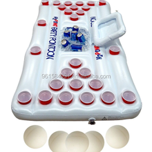 custom logo inflatable beer pong table floating drink water game with cooler