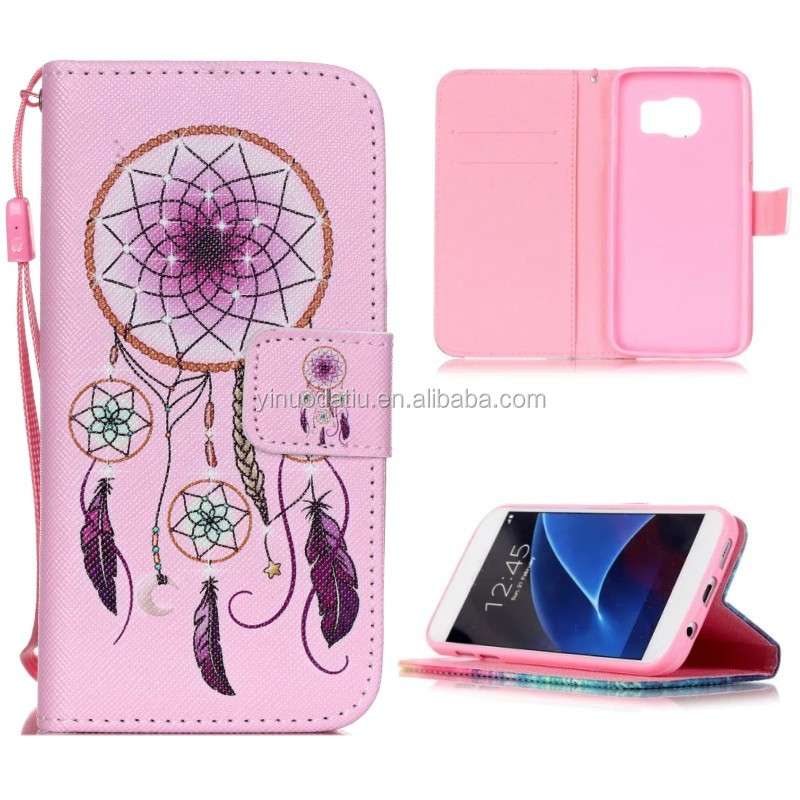 Luxury Painting PU Leather Case For Samsung Galaxy J5 J500 J500H J500F Girl Owls Dandelion Flip Wallet Stand Cover Phone Cases