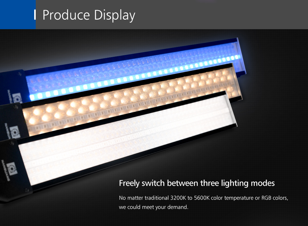 Nanguang RGB88 RGB LED Ice Light for video Handheld Photography Light Wand for Ambient Lighting,Background Color, Filling Light