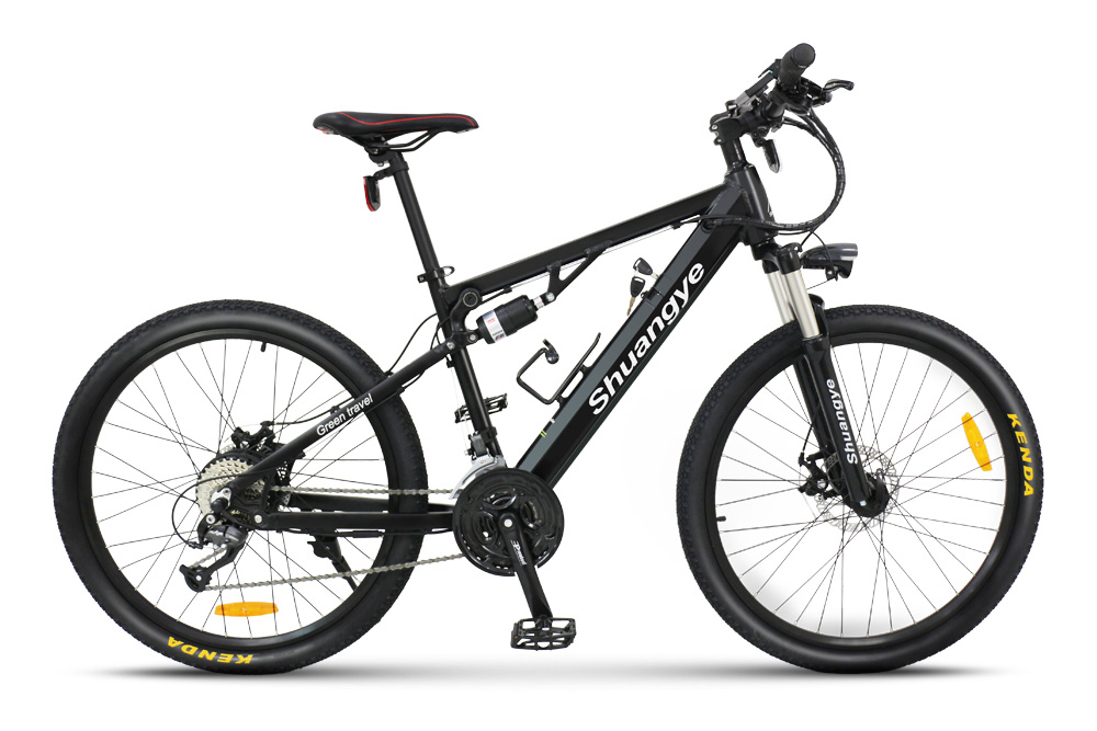 2017 newest full suspension 26'' wheels mountain electric bicycle